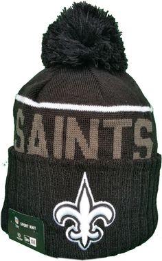New Orleans Saints Fleece Lined Black Pom Toque