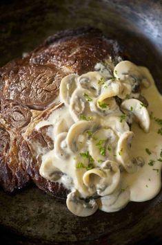 Champignonroomsaus met steak