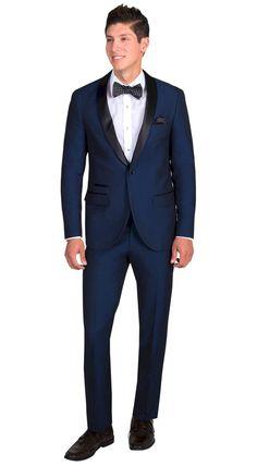 Black Tuxedo with Navy Blue Shaw