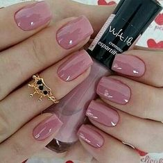 70 + Cute Simple Nail Designs 2017 - style you 7 Cute Easy Nail Designs, Nail Art Designs, Nails Design, Pink Nail Art, Pink Nails, White Nails, Cute Simple Nails, Simple Art, Nagellack Trends
