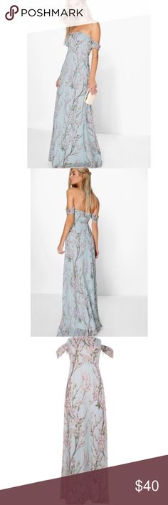 Floral Off The Shoulder Dress Floral Off The Shoulder Maxi Dress size 4 USA uk size 8 label may be in uk size. And also USA size 6 available. Please note the uk size will be on tag 😊 Dresses Maxi