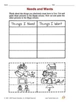 Making Choices leaf idea for Daisy Girl Scouts Needs and Wants Printable (K - 2nd Grade) - TeacherVision.com