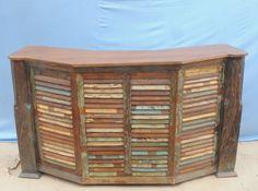 Antique wooden bar.