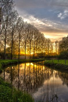 **Sunset in Eindhoven, The Netherlands