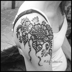 A bold floral henna