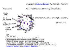 Kathack.com allows you to turn any page into Katamari Damacy