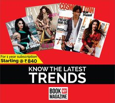 Fashion has an ever changing nature. Stay equipped with latest fashion knowledge and emerging trends. Subscribe now to fashion magazines. Did we also mention the discount? #BookMyMagazine #LatestTrends #FashionMagazines