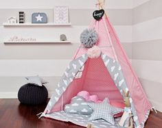 Teepee Kids Play Tent Tipi Fresh Mint by FUNwithMUM on Etsy