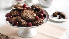 Nigel's soft and fudgy cookies are delicious paired with a handful of summer fruit. Fruit Recipes, Sweet Recipes, Cookie Recipes, Bbc Recipes, Flour Recipes, Quick Recipes, Tea Cakes, Chocolate Cookies, Chocolate Recipes