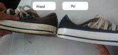 Białe trampki lub buty mające białą podeszwę z czasem zawsze nabierają żółtawego koloru. Bardzo często, aby temu zaradzić, regularnie pierzemy... Vans, Dom, Sneakers, Shoes, Fashion, Tennis, Moda, Slippers, Zapatos