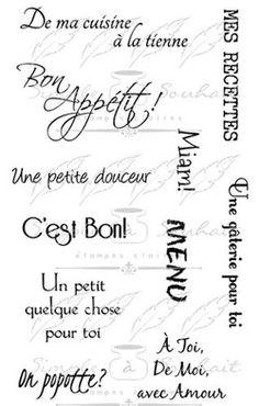 Les étampes Simple à Souhait Collection Bon Appétit (011N) http://www.simpleasouhait.com/de-ma-cuisine.html