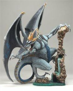 """McFarlane Toys Dragons Series 8 - 6"""" Eternal Dragon by McFarlane Toys. $19.95. Articulated at base of head, right shoulder and base of tail.. Limited Production. Eternal dragon measures 8 inches at highest point of left wing.. Custom base is 31/4 inches wide, 21/2 inches deep and 53/4 inches tall.. Clamshell packaging. From the Manufacturer                Events in the dragon kingdom are escalating, setting the stage for an all-new adventure. McFarlane's Dragons Series 8..."""