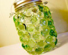 St Patricks Day Mason Jar Lantern Green by organicmountainwoman, $18.00