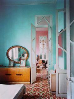turquoise wall paint / sfgirlbybay