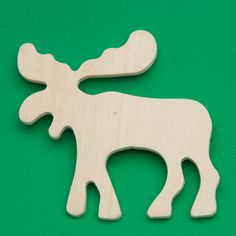 Unfinished Wood Moose Cutout - Wood Cutouts - Unfinished Wood - Craft Supplies