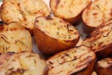 Grilled red bliss potatoes