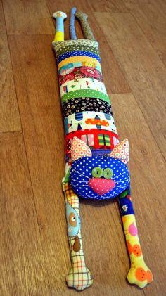лоскутная подушка-игрушка кот