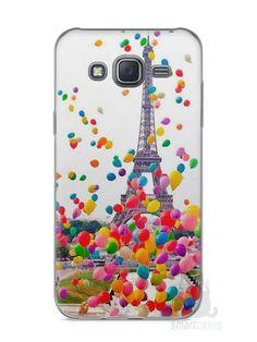 Capa Capinha Samsung J5 Torre Eiffel e Balões - SmartCases - Acessórios para celulares e tablets :)