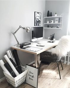 "215 Likes, 4 Comments - Creative office setups (@creative_office_setups) on Instagram: ""Ultra chic workspace styling by @easyinterieur. Please tag your friends and follow us."""