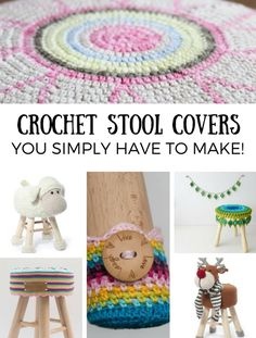 Crochet stool covers you simply have to make