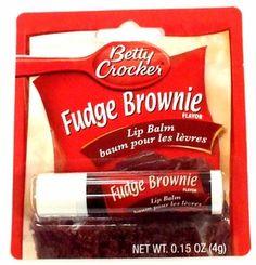 Betty Crocker Fudge Brownie Lip gloss! The no calorie substitute! I'd love this!