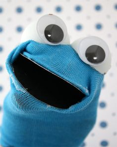 Cookie Monster puppets  @Laura Pecina, I wish I had found these earlier.
