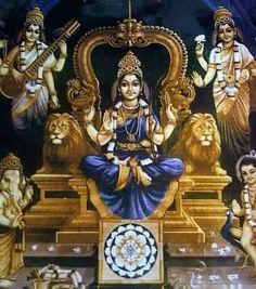 .shri lalitha devi Lord Shiva Family, Lord Murugan, Tanjore Painting, Divine Mother, Shiva Shakti, Goddess Lakshmi, Hindu Deities, Krishna Art, God Pictures