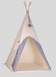 tipi/teepee - grey with white stars - Nununu - BRANDS Star Bedroom, Kids Castle, Oeko Tex 100, Hanging Chair, Outdoor Gear, Stars, Kids Rooms, Bobby, Hand Made
