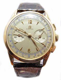 Antique Watch Uk gold Omega chronograph