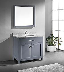 """48"""" Virtu Caroline MS-2048-GR bathroom vanity #BathroomRemodel #BlondyBathHome #BathroomVanity  #ModernVanity"""