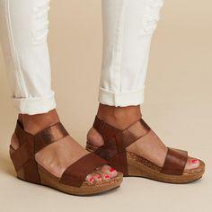 Plain Mid Heeled Peep Toe Casual Date Wedge Sandals Boho Sandals, Cute Sandals, Wedge Sandals, Women Sandals, Shoes Women, Summer Sandals, Sandals Outfit, Summer Shoes, Wedge Shoes