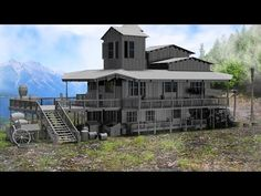 Modeling wooden house 3ds max tutorial part - 1 - YouTube