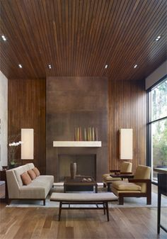 Modern Wall Panels | When I was a child, my room was under a slanted roof covered in wood paneling.