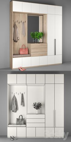 Hallway Decorating 576671927272119029 - models: Wardrobe & Display cabinets – Entrance hallway 3 Source by stephisafuchs Hall Wardrobe, Wardrobe Design Bedroom, Home Entrance Decor, House Entrance, Home Decor, Entryway Decor, Hallway Cabinet, Hallway Cupboards, Flur Design
