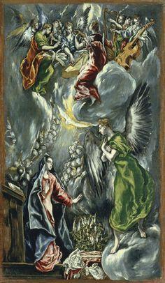 El Greco, La Anunciación (ca. 1596-1600, Museo Thyssen, Madrid)