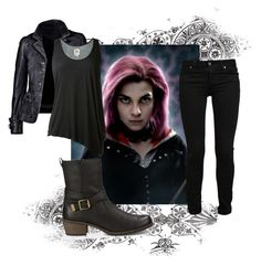 """""""Tonks"""" by crossxover ❤ liked on Polyvore featuring Paige Denim, UGG Australia, L'Agence and hp"""