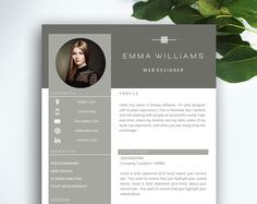 4 page resume / cv template cover letter for ms word design Portfolio Design, Portfolio Covers, Portfolio Pdf, Portfolio Resume, Cv Resume Template, Resume Cv, Resume Software, Free Resume, Cv Design