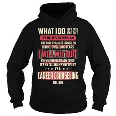 Career counseling Job Title T Shirts, Hoodies, Sweatshirts. GET ONE ==> https://www.sunfrog.com/Jobs/Career-counseling-Job-Title-T-Shirt-Black-Hoodie.html?41382