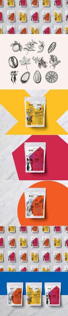 Blue Frog Breakfast Packaging by Grain Creative | Logo Designer Bradenton, Web Design Sarasota, Tampa Fivestar Branding Agency
