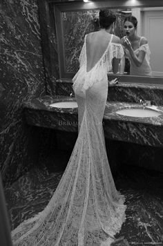 Wholesale Mermaid Dresses - Buy 2014 Berta New Gorgeous Vintage Applique Off Shoulder Sleeveless Sweep Train Lace Backless Mermaid Long Formal Gowns Wedding Dresses, $288.0 | DHgate