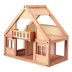 Made by eco-friendly Plan Toys, the craftsmanship of this Classic Wooden Dollhouse provides a great value in terms of design, quality and detail. Well-constructed and durable, this dollhouse is a grea