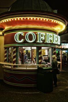 A coffee kiosk Coffee Talk, I Love Coffee, Best Coffee, Coffee Break, My Coffee, Morning Coffee, Coffee Cups, Cuppa Joe, Cafetiere