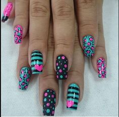 Gel Nail Designs You Should Try Out – Your Beautiful Nails Toe Nail Designs, Acrylic Nail Designs, Acrylic Nails, Pedicure Designs, Cheetah Nail Designs, Fancy Nails Designs, Fabulous Nails, Gorgeous Nails, Gel Nagel Design