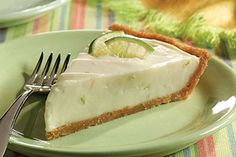 The keys to this creamy and super-citrusy cheesecake? Well, there's cream cheese, of course—and lime sherbet!
