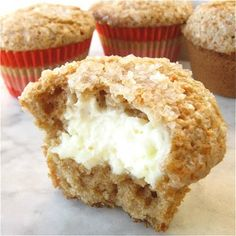 inside out carrot cake muffins ... via king arthur flour