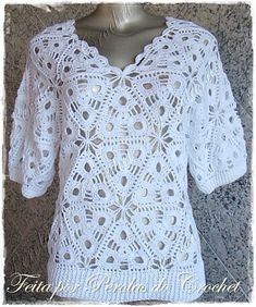* Pérolas do Crochet: Blusa em crochet