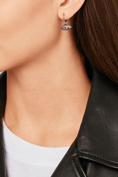 Ileana Makri | Open Eye 18-karat rose gold, sapphire and rhodolite earrings | NET-A-PORTER.COM
