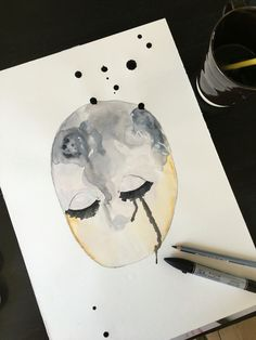 Crying Face - Aquarelle