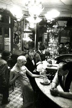 """""""Au Chien qui fume"""" by Frank Horvat, Paris, 1957"""
