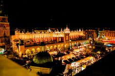 Bright lights for Krakow's Christmas market